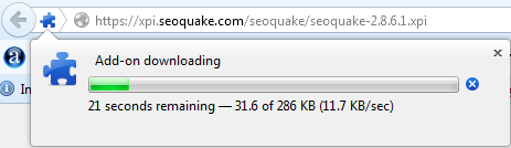 Proses Download pemasangan SEOQuake