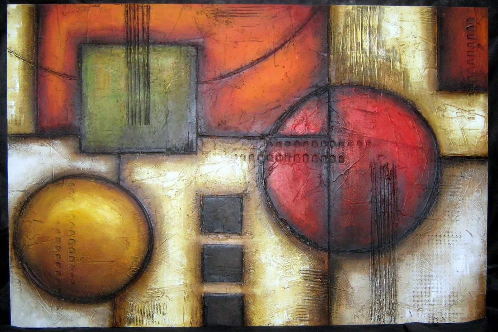 1000 images about cuadros abstractos on pinterest - Cuadros con texturas abstractos ...