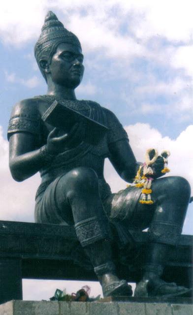 King Rhamkhamhaeng statue in Sukhothai Historical Park