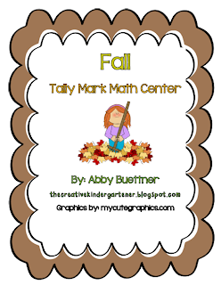 http://www.teacherspayteachers.com/Product/Fall-Tally-Mark-Count-Math-Center-876798