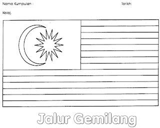 Tema Bulan Merdeka:::Kolaj Jalur Gemilang