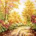 Tranh đá quý mùa thu vàng