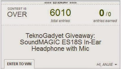SoundMAGIC ES18S In-Ear Headphone with Mic Giveaway Winner