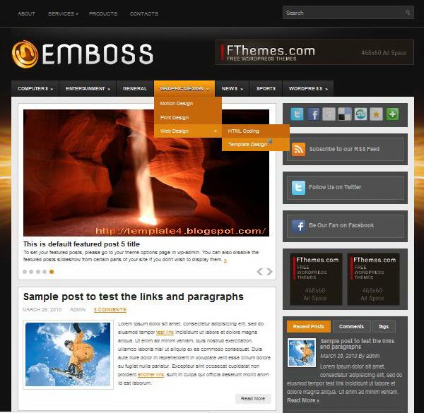 Emboss WordPress Theme