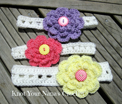 Easy Crossed Double Crochet Headband