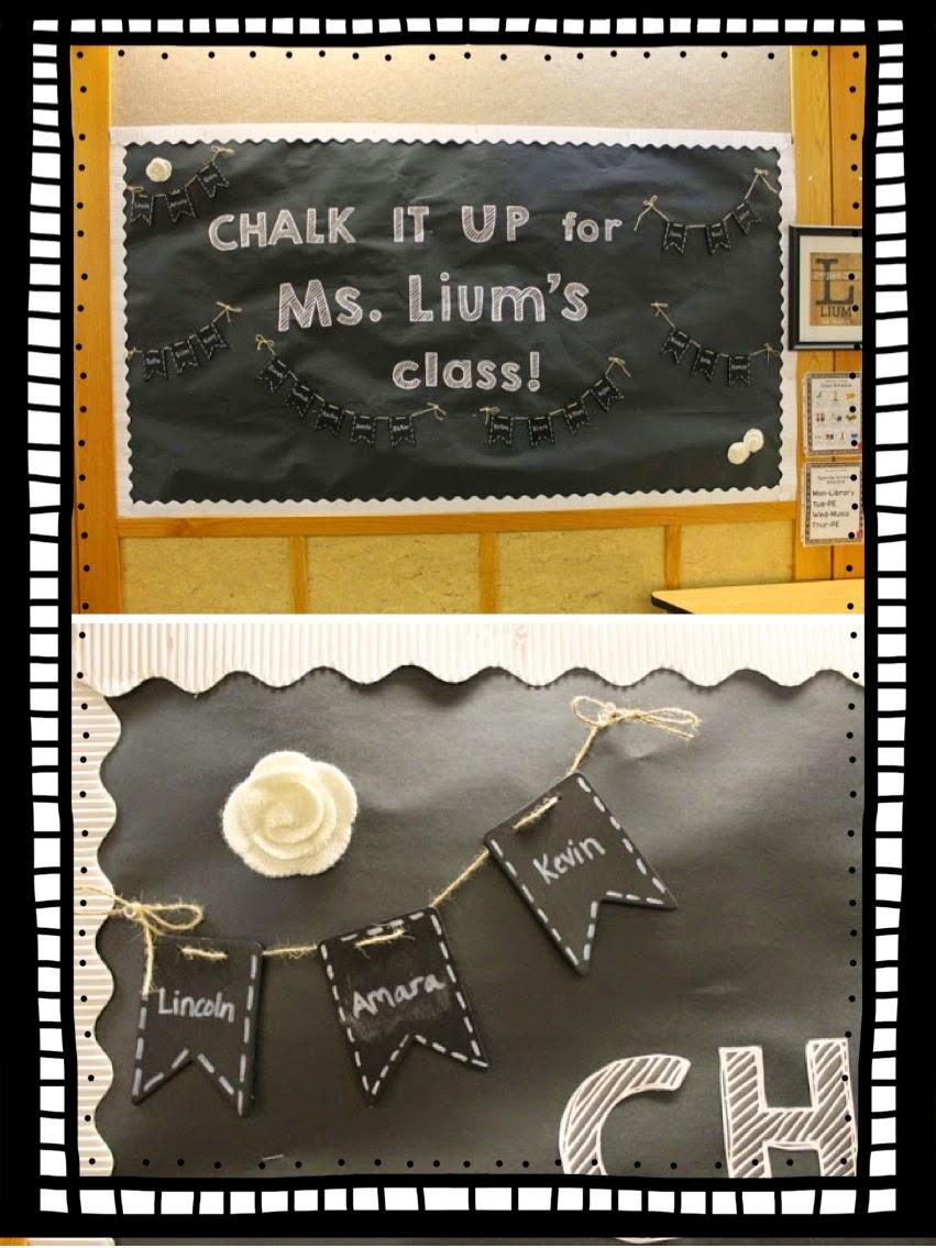 Classroom Chalkboard Ideas ~ Chalkboard and burlap classroom again teaching in the