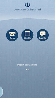 Anadolu Üniversitesi Android Uygulaması Ana Menü 2