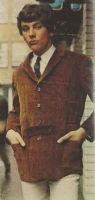 Musician Peter Martin in a cord Norfolk Jacket by John Stephens, 1965
