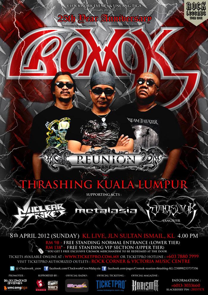 Cromok Reunion Live in KL 2012