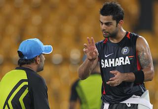dhoni with kholi 3rd ODI