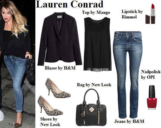 lauren conrad, style, classic outfit, blazer, jeans
