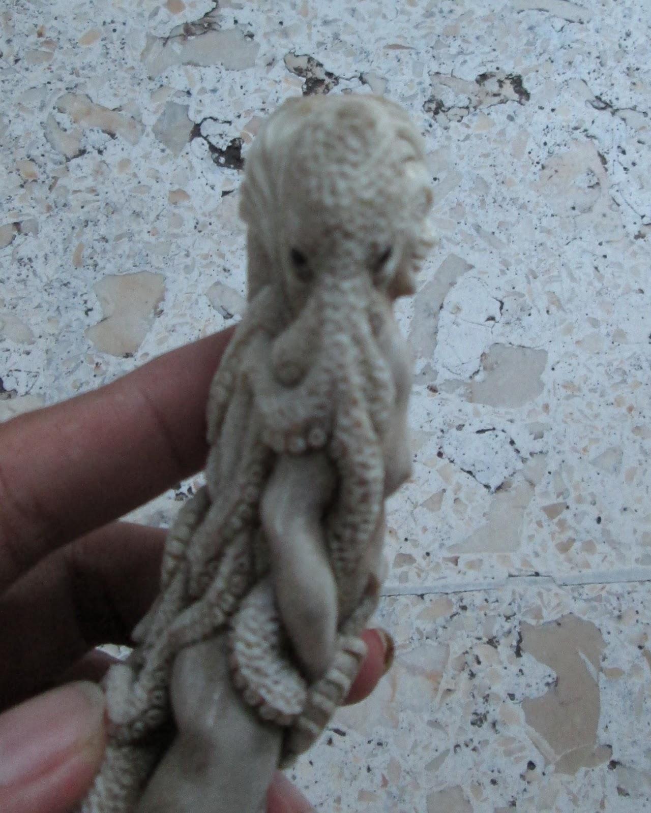 Octopus Skull Snail Mermaid Handle/Standing Carving