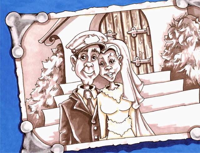 Wedding Cartoon by Chavah Billin