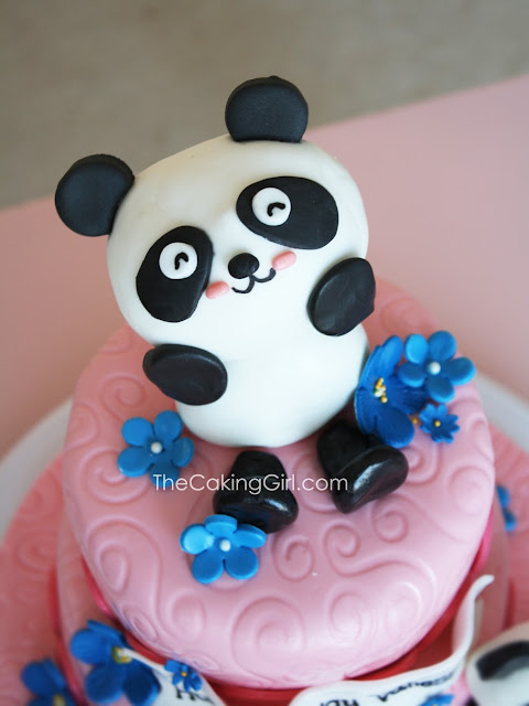 cute panda cake for girls