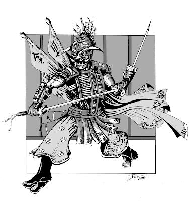 Oni Warrior by Del Teigeler, Mavfire