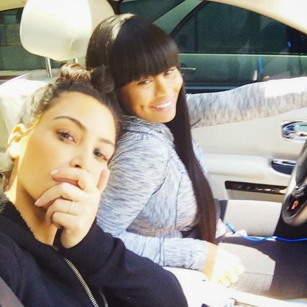 kim kardashian, blac chyna, tyga, rapper's cars,