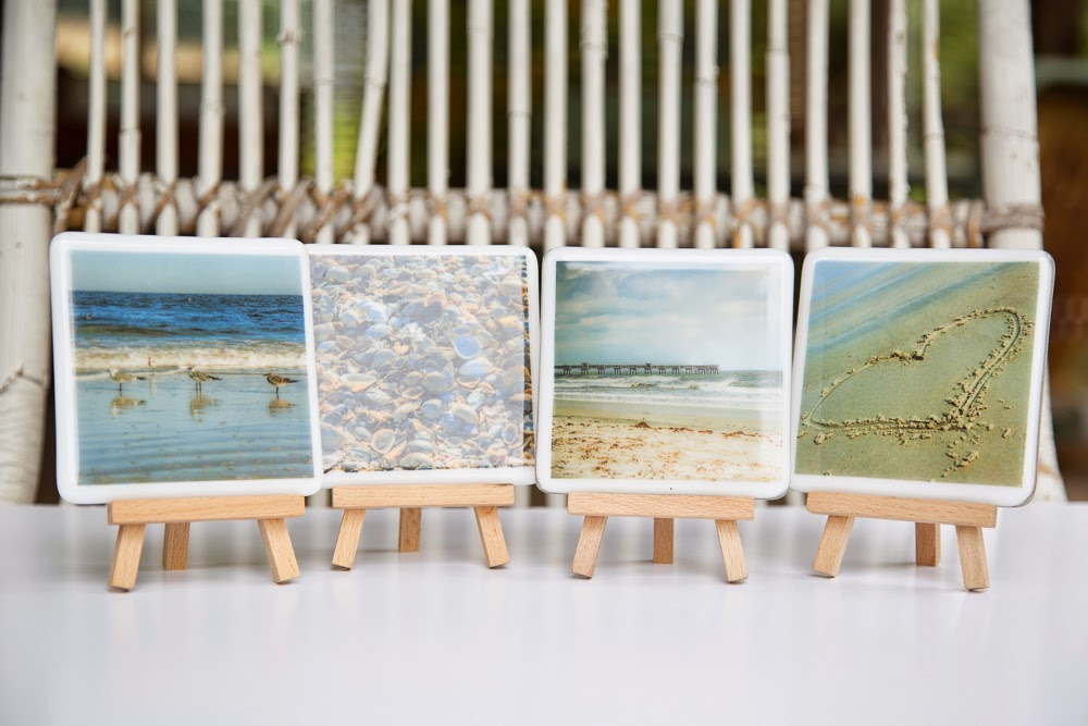 beach, Jacksonville, Florida, beach, fused glass, coasters, seagulls, pier, heart, sand, ocean
