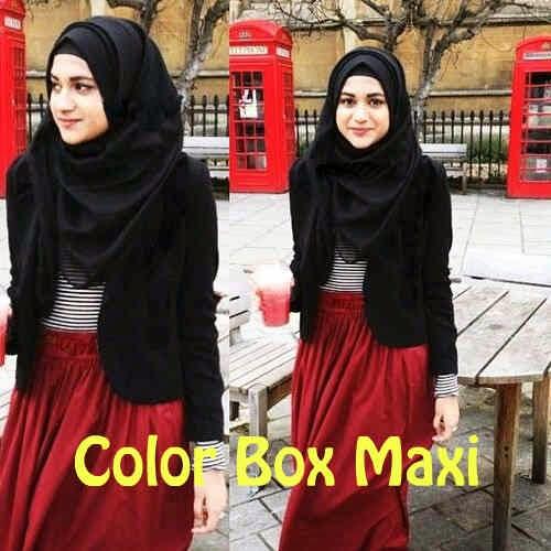(Maxi Maroon JERSEY SUTRA kombi salur Spdx Rayon SUPER ORI+blazer JERSEY Tebal+Pashmina hycont (High Quality) Fit,XL pjg140cm ORI By AV