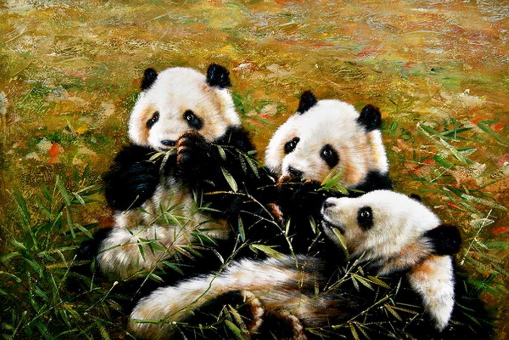 Imágenes - Página 18 BODEGONES+A+Sleuth+of+Pandas%252C+I+%25C3%2593leo+sobre+lienzo+Pintura+Realista