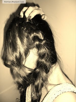How to make a Waterfall Braid updos