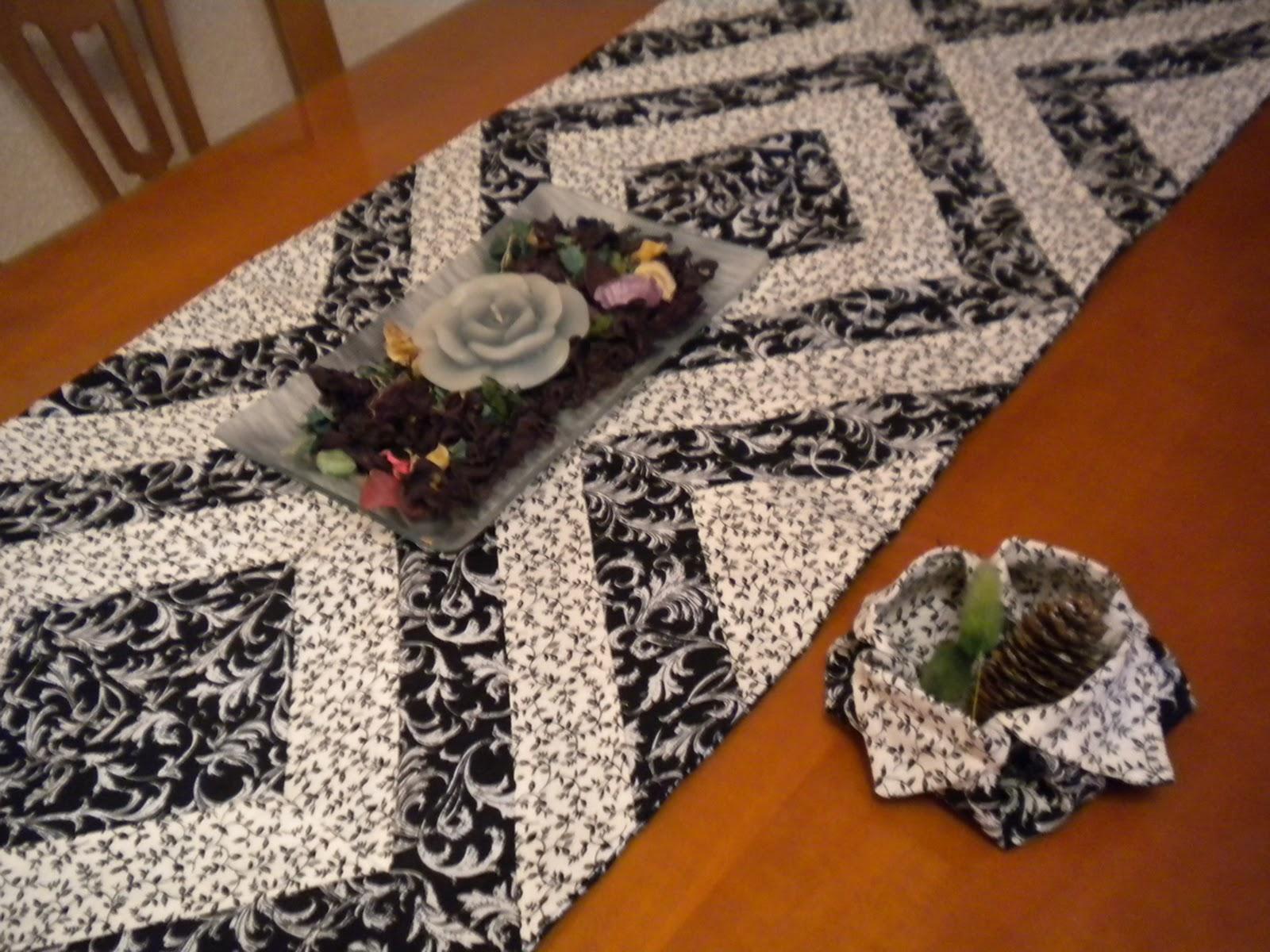 Camino de mesa de patchwork el blog de margarita - Camino mesa patchwork ...