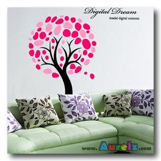 pink leaf tree 3d hl 2181