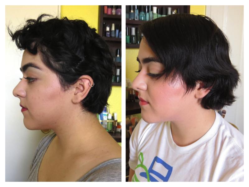 Crecimiento del cabello corto