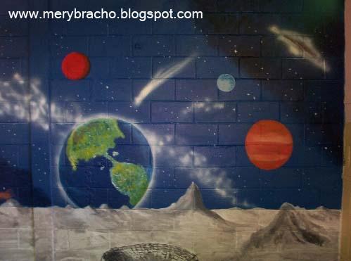 Murales para ni os mi arte creativo 2 entre poemas y for Mural la misma luna