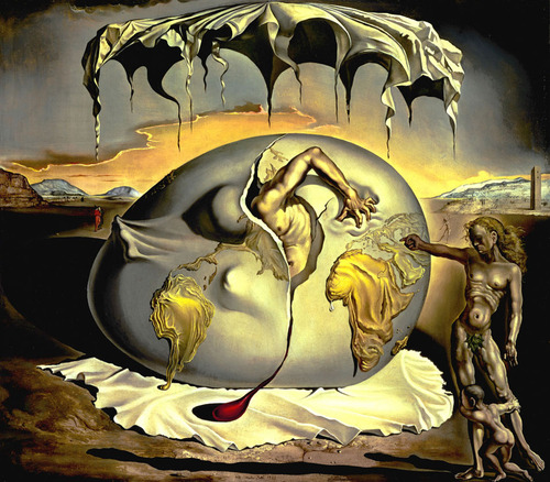 Easy Art Symbols Geopoliticus Child Watching The Birth Of The New Man