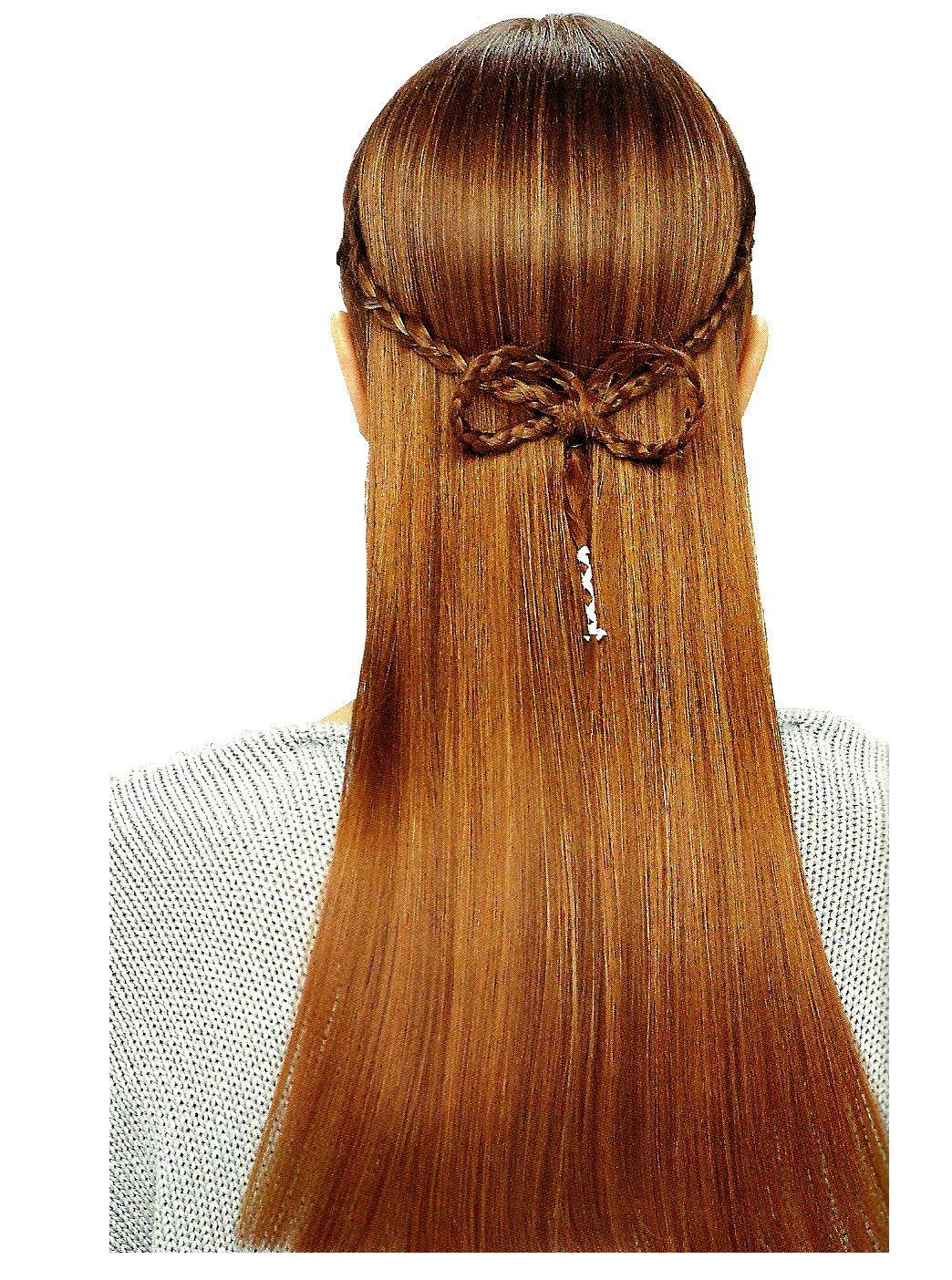 Trenza con rosa trenza cabello largo peinados faciles holiday and