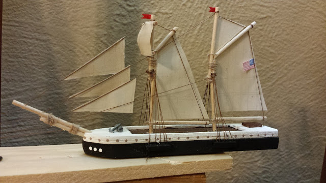 model ship full sail