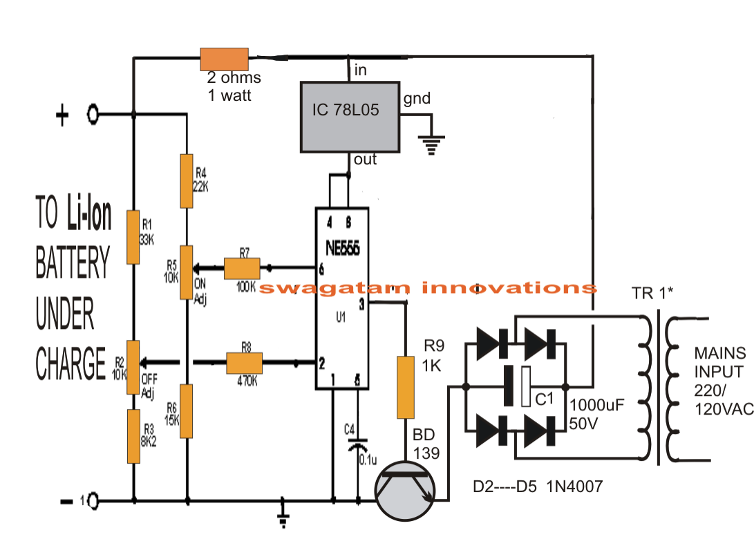 Li Ion Battery Charger Circuit Using Ic on overvoltage protection circuit