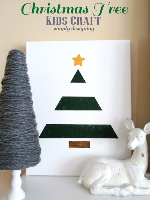 Christmas Tree {Kids Craft} | #texturedsurface #christmas #christmascraft #kidscraft