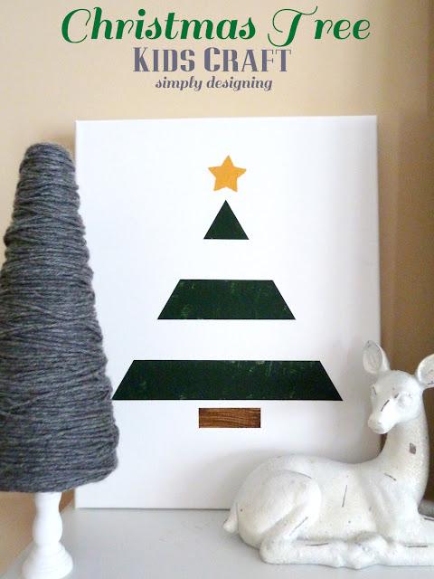 Christmas Tree {Kids Craft} | #texturedsurface #christmas #christmascraft #kidscraft