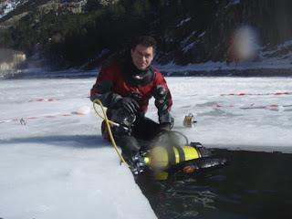 Buceando en hielo