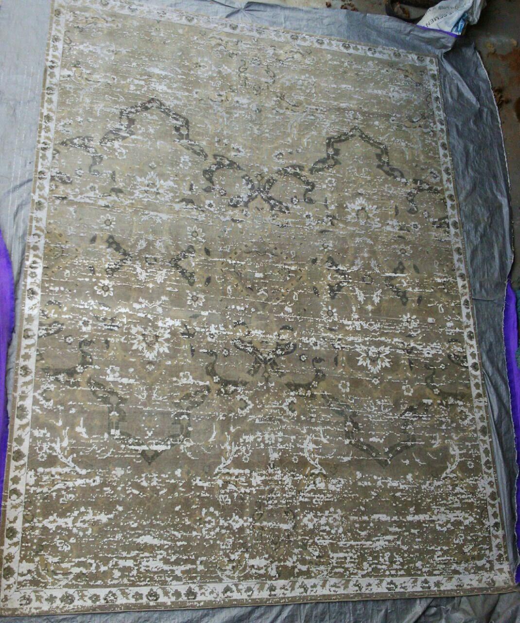 OXIDISED bamboo silk rugs