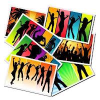 Ilustraciones con chicas bailando en una fiesta - de F. Mora - imagen de 123rf.com