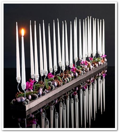 adventskalender, annorlunda adventskalender, adventskalender blommor, advent calender, festive candels flowers