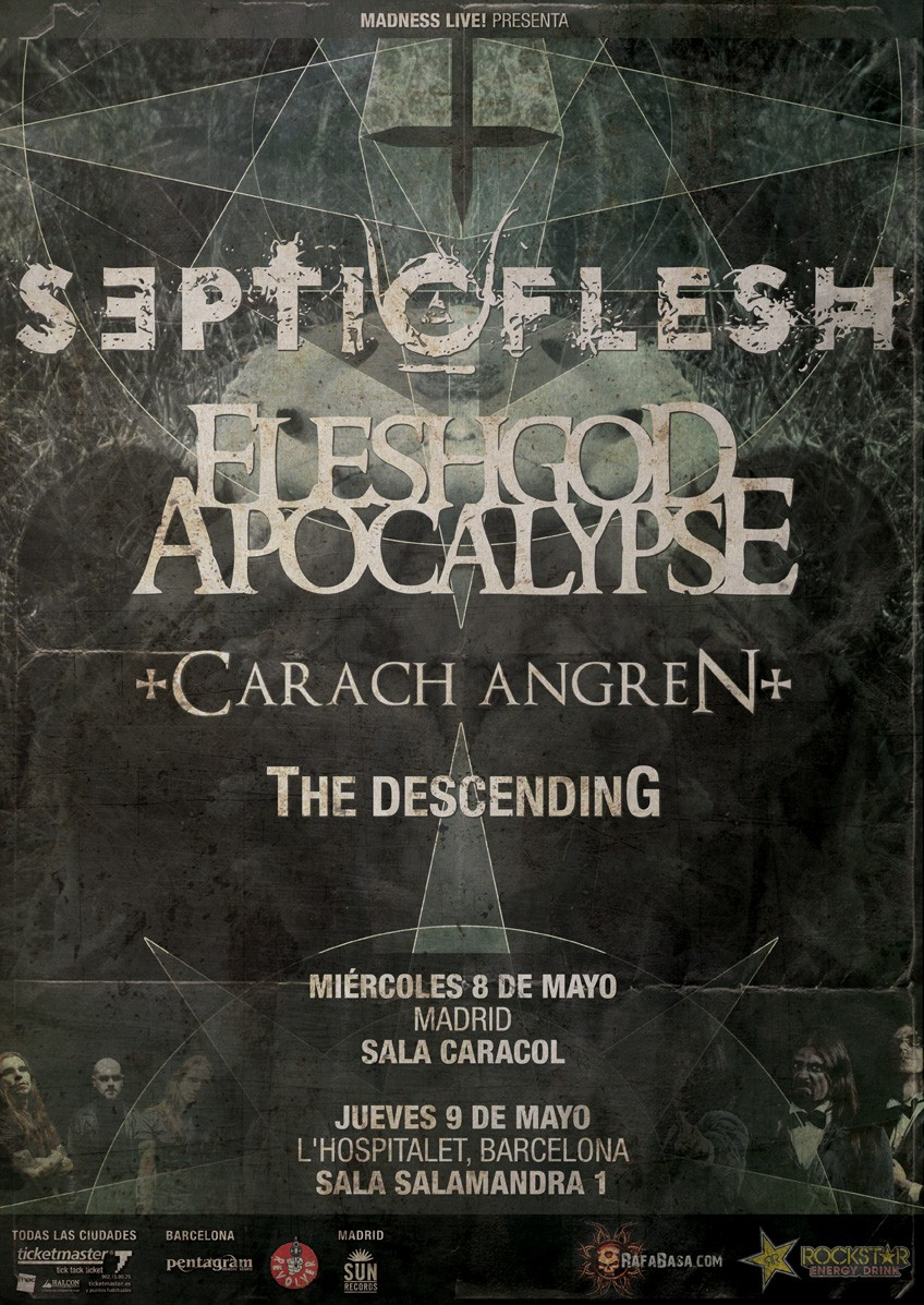 Septicflesh + Godflesh Apocalypse en España