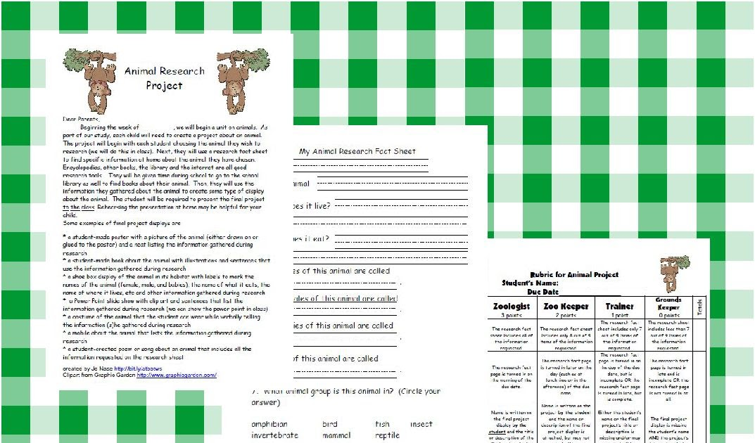 rubric for research paper on animals Spring is the perfect time for an animal unit and what better way to wrap up a unit than with a project i have created an animal research project packet that is simple enough for first graders to complete this free packet contains a parent letter, research pages, a grading rubric and even a rubric.