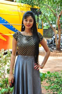 Sanam Shetty in a Polka Dott Blck Top and Long Skirt