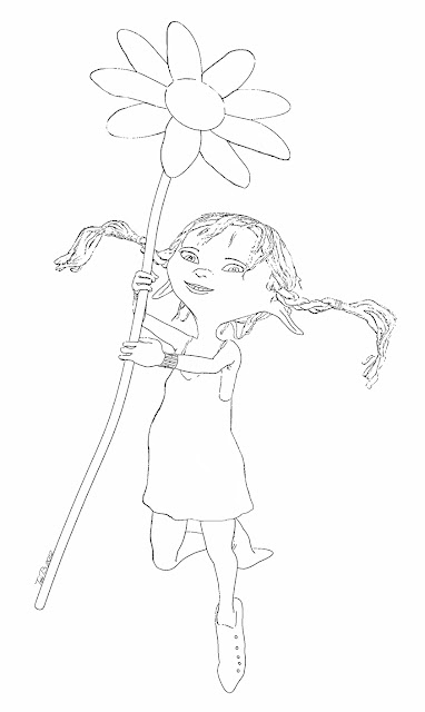 Daisy, Crudoodle Digital Stamp by Tori Beveridge