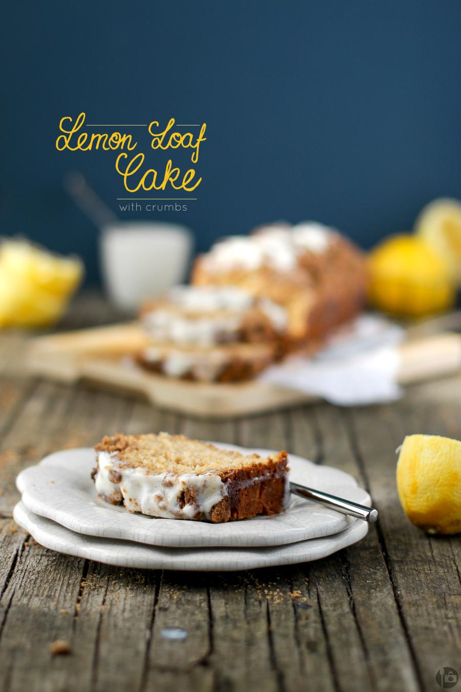 Lemon Loaf Cake with Crumbs