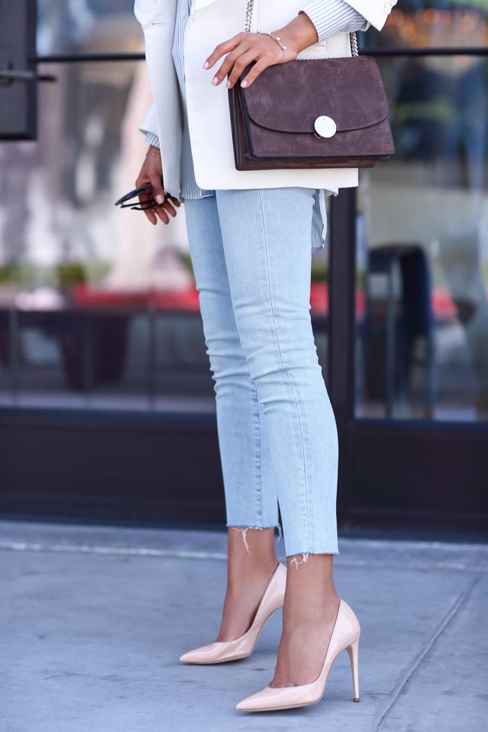 DOLCE & GABBANA nude pumps, designer shoes blog, annabelle fleur shoes