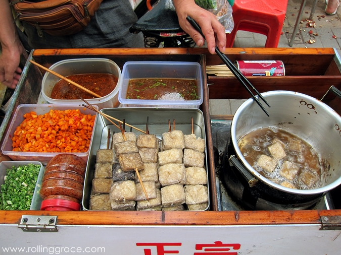 chinese smelly toufu street food