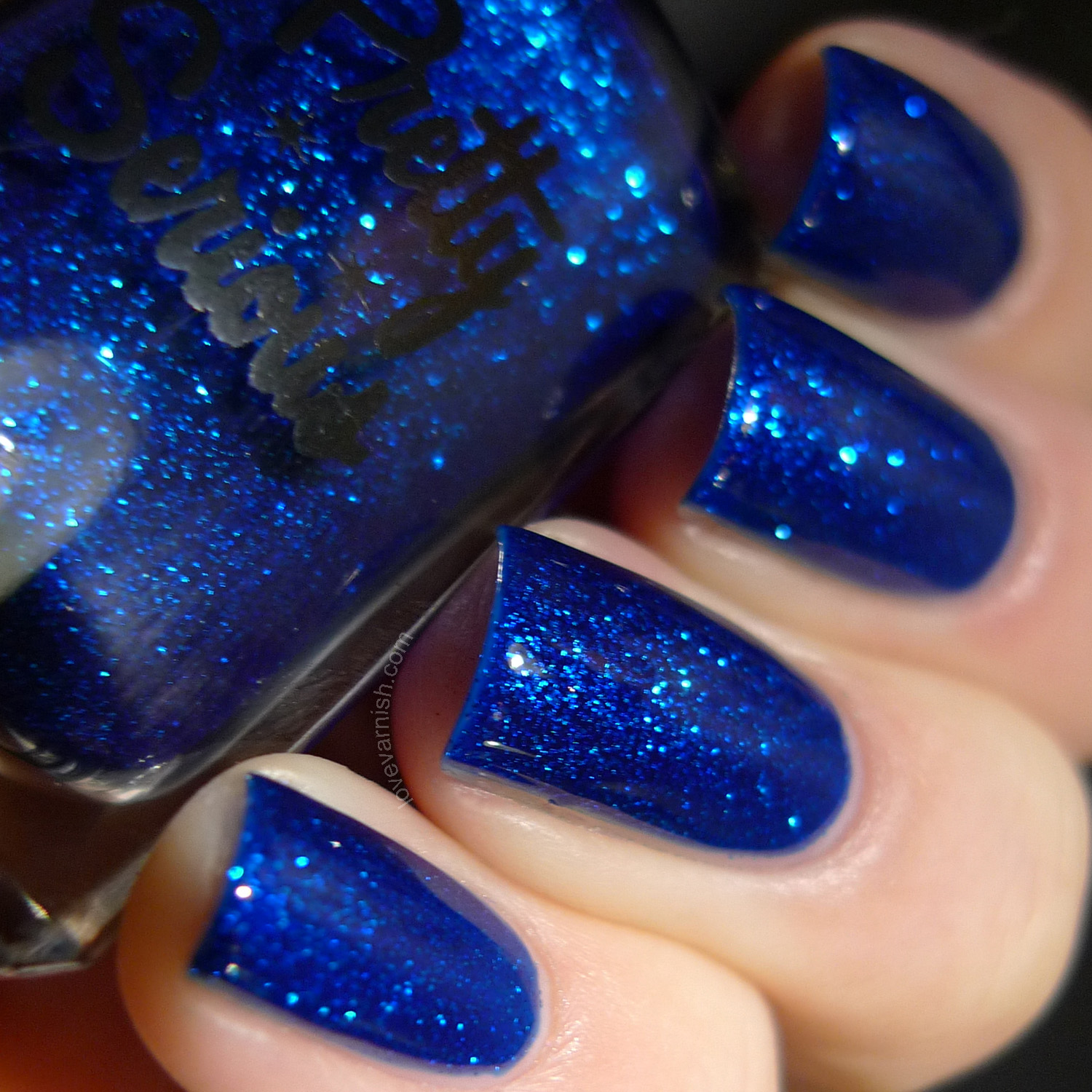 Pretty Serious Cosmetics BSOD blue jelly glitter polish