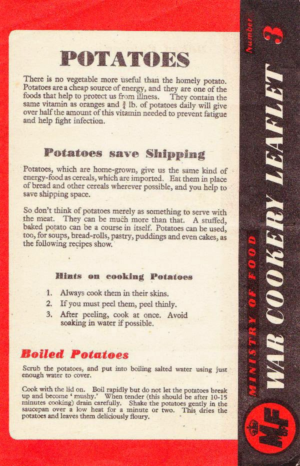 How to cook potatoes the war way