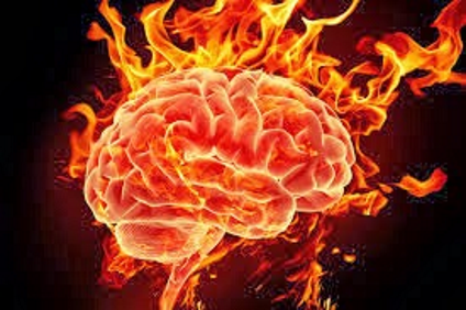 Burned out brain