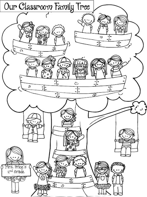 Free coloring pages of family members