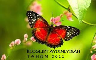 Jom Join BLOGLIST AyuInsyirah tahun 2011